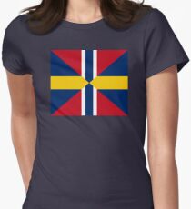 Union Mark Sweden Norway Womens Fitted T-Shirt