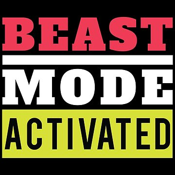 Fitness Beast Mode Activated Gym Workout by GreensDream