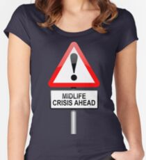 Midlife crisis concept. Women's Fitted Scoop T-Shirt