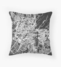 Simplified Map of Belfast Throw Pillow