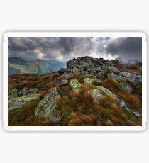 Alpine landscape in a cloudy day Sticker