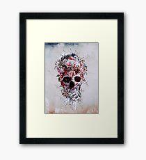 Floral Skull RPE Framed Print