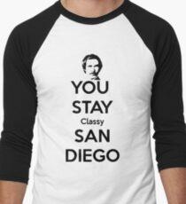 You Stay Classy! San Diego Men's Baseball ¾ T-Shirt