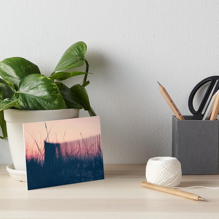 beach sunset II Art Board Print