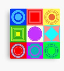 Fun shapes Canvas Print