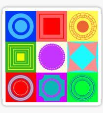 Fun shapes Sticker