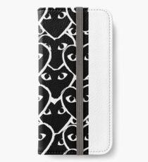 Monogramm Comme Des Garcon Schwarz iPhone Flip-Case/Hülle/Klebefolie