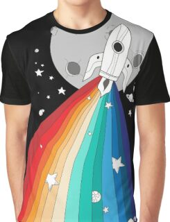 Pride Rocket Graphic T-Shirt