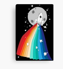 Pride Rocket Canvas Print