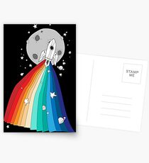 Pride Rocket Postcards