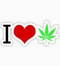 I LOVE WEED Sticker