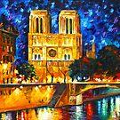 «NOTRE DAME DE PARIS - Leonid Afremov» de Leonid Afremov