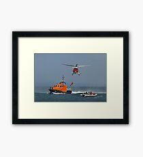 Bembridge Lifeboat & Helicopter Framed Print