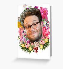 Seth Rogen Floral Greeting Card