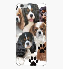Cavalier Spaniel Family Group iPhone Case