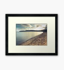 Tranquil Bay On A Scottish Island Framed Print