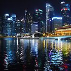 Lights on the Singapore River by FTML