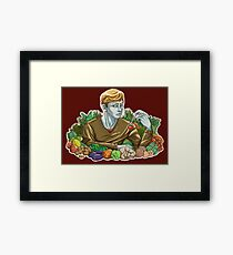 Kieren and Vegetables Framed Print