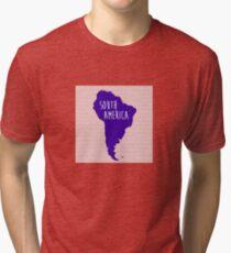 South America Chevron Continent Series Tri-blend T-Shirt