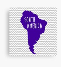 South America Chevron Continent Series Canvas Print