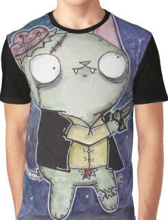 Zombie Han Solo Cat Graphic T-Shirt