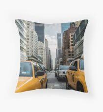 Taxi Cab NYC Throw Pillow