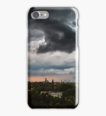 Extreme stormy clouds over the city iPhone Case/Skin