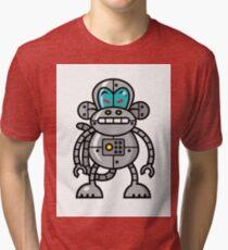Robot Monkey Character Design   Tri-blend T-Shirt