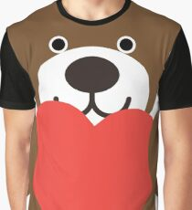 Teddy Bear Heart Graphic T-Shirt