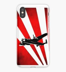 British Avro Lancaster in a stylised sky iPhone Case/Skin