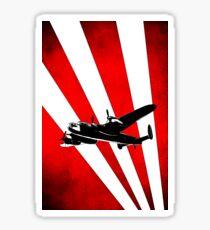 British Avro Lancaster in a stylised sky Sticker