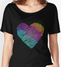 Texture heart. Women's Relaxed Fit T-Shirt
