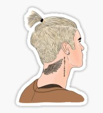 Justin Bieber Ponytail Drawing Sticker