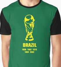 Brazil World Cup wins Graphic T-Shirt