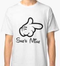 Couple She's Mine World Happy Valentine Day She is Mine Classic T-Shirt