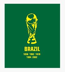 Brazil World Cup wins Photographic Print