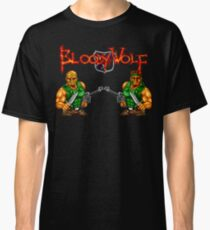 Bloody Wolf (TurboGrafx-16 Title Screen) Classic T-Shirt