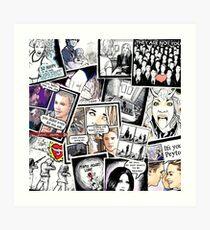 peyton's artwork collage Art Print