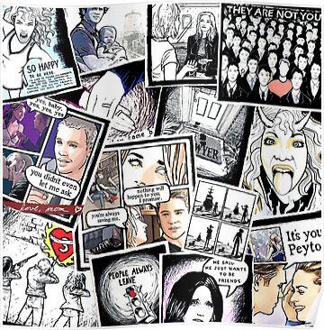 peyton's artwork collage Poster