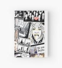 peyton's artwork collage Hardcover Journal