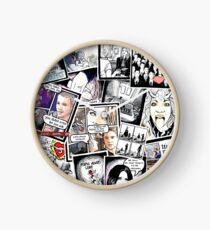 peyton's artwork collage Clock
