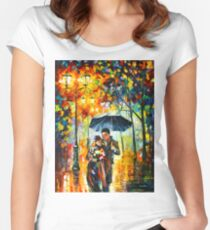 WARM NIGHT - Leonid Afremov Women's Fitted Scoop T-Shirt