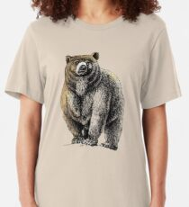 The Great Bear - A fierce protector Slim Fit T-Shirt