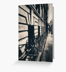 Melbourne streetscape Greeting Card