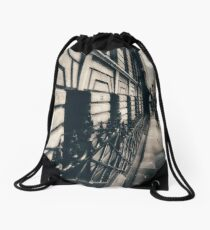 Melbourne streetscape Drawstring Bag