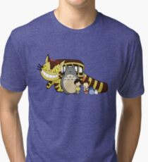 Totoro, to-to-ro Tri-blend T-Shirt