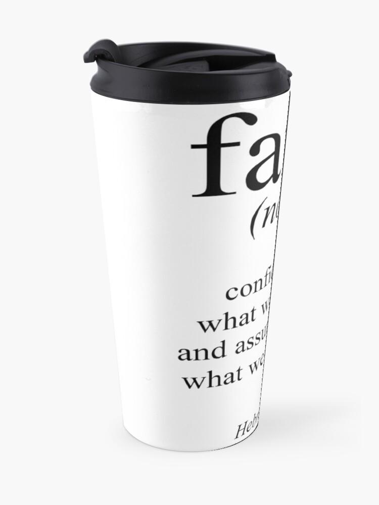 Alternate view of Hebrews 11:1 Faith Definition Black & white Bible verse Travel Mug