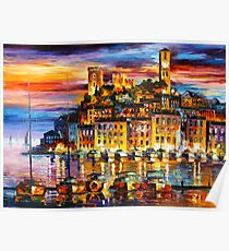 CANNES - FRANCE - Leonid Afremov Poster