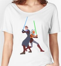 Star Wars: Anakin and Ahsoka - Master and Padawan Women's Relaxed Fit T-Shirt