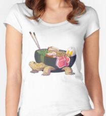 Ramen Tortoise  Women's Fitted Scoop T-Shirt